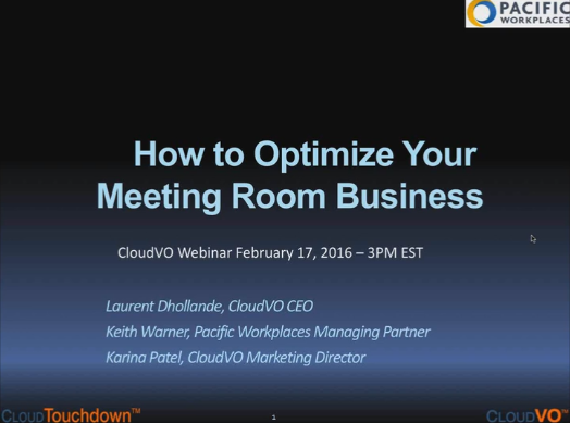 Webinar: How to Optimize Your Meeting Room Business