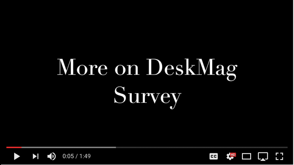 image of episode title - more on deskmag survey