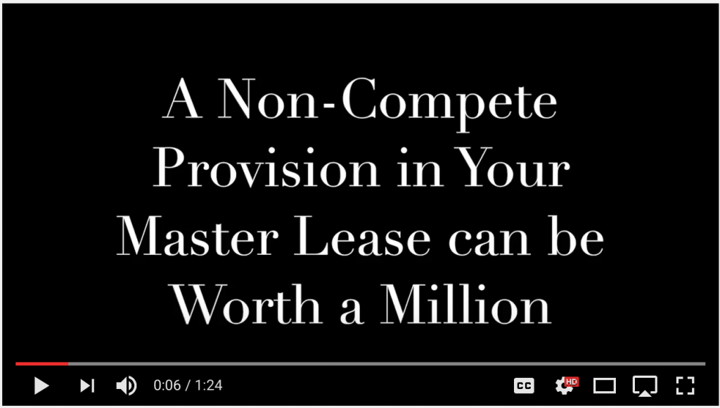 image of episode title - a non-compete provision in your master lease can be worth a million