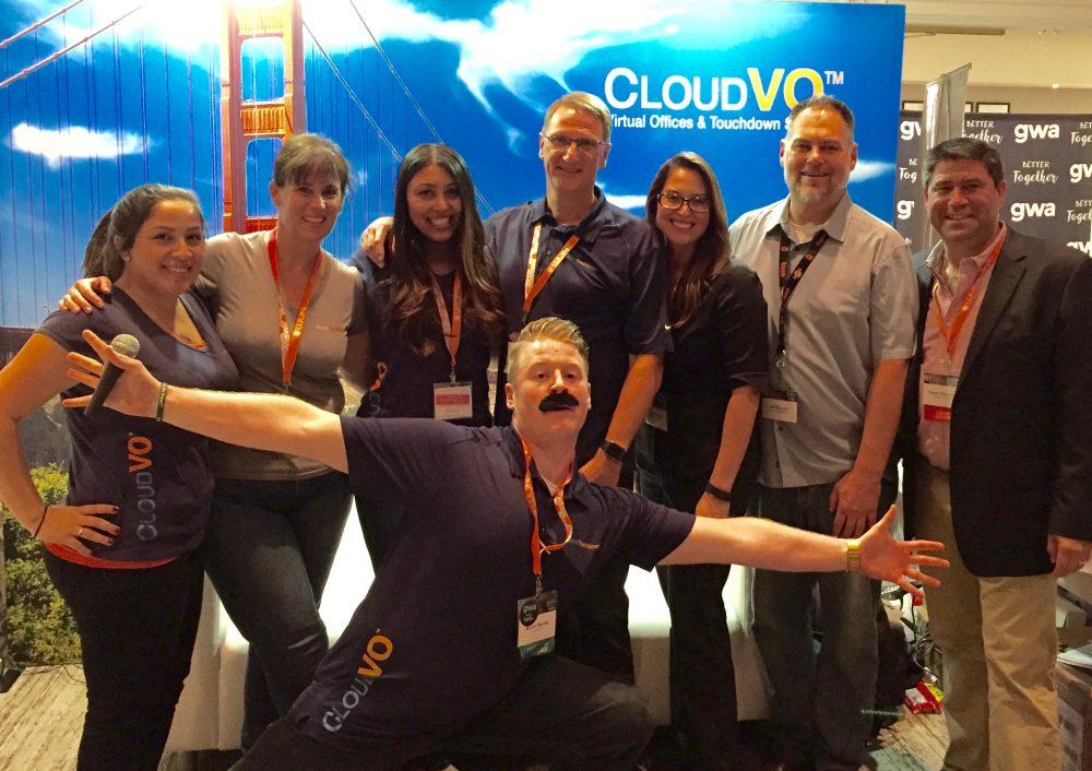 GWA Las Vegas 2016 CloudVO team at booth