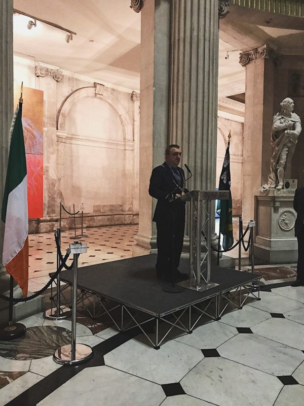 Lord Mayor of Dublin - Michael Macc Donncha - addresses Coworking Europe Attendees