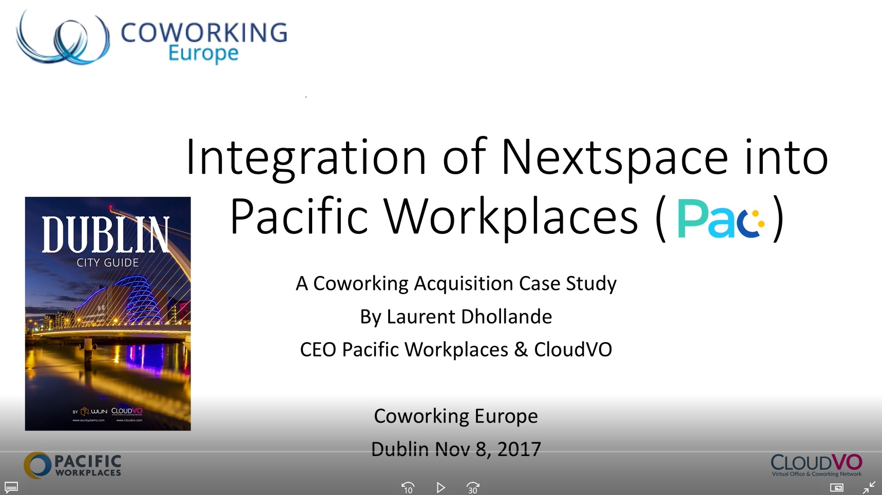 NextSpace Integration into Pacific Workplaces Presentation Coworking Europe
