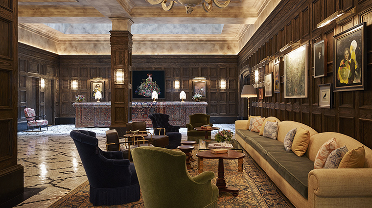Property The Beekman Hotel Lobby Thompson Hotels CloudVO City Guide Financial District New York