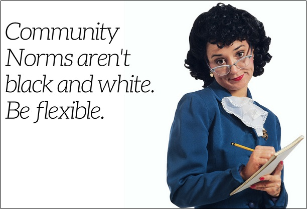 Community Norms are not black and white