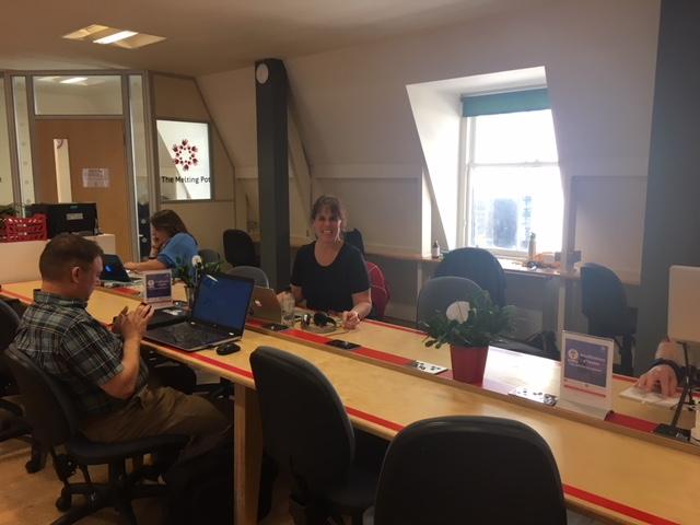 CloudVO Tracy Wilson Coworking at Melting Pot Coworking Space Edinburgh Scotland