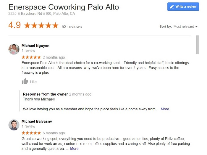 Marketing A Coworking Space and Google Reviews