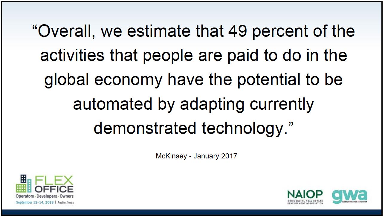 McKinsey quote from Antony Slumbers presentation at GWA Austin 2018