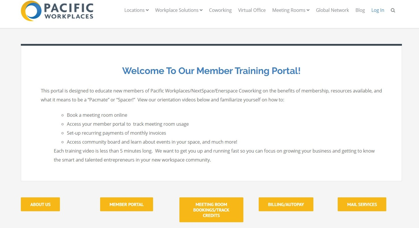 CloudVO Blog Videos for Coworking Space Onboarding Member Portal for Pacific Workplaces
