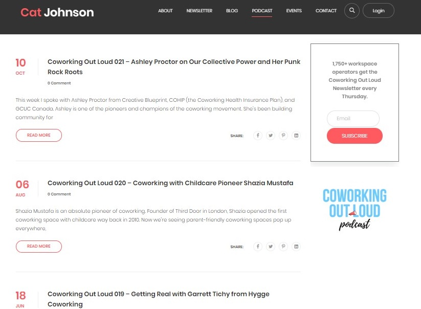 Coworking Out Loud Podcast Cat Johnson | CloudVO