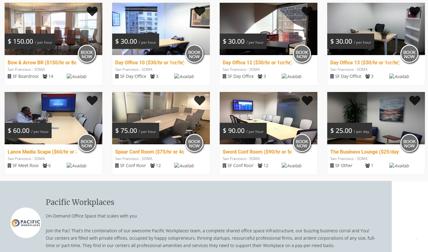 Pacific Workplaces Online Meeting Room Bookings   CloudVO