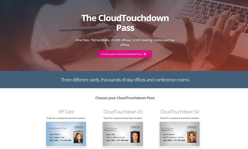 Adding Meeting Room Hours to Virtual Office Plans CloudTouchdown Passes