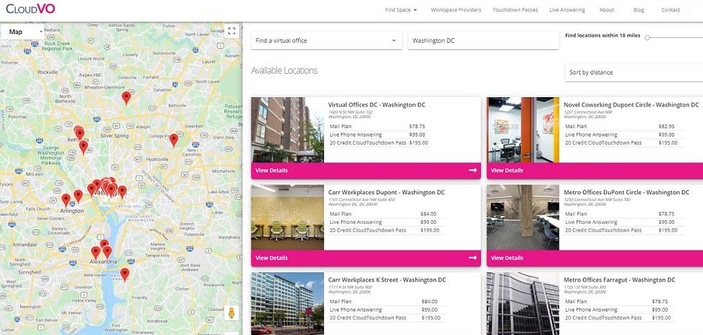 Virtual Offices in Washington D.C. | CloudVO