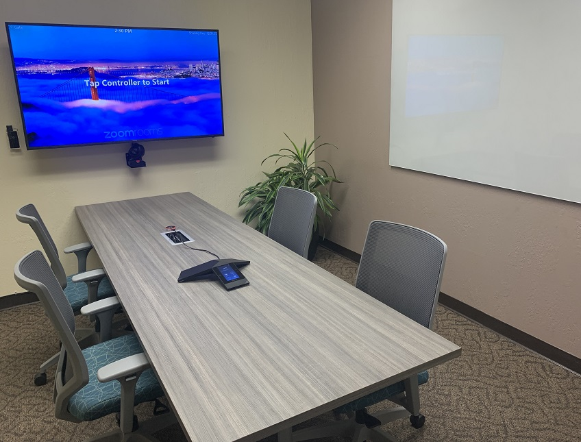 Zoom Room at Pacific Workplaces Cupertino | CloudVO