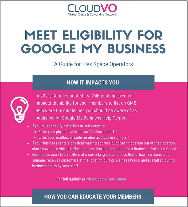Google My Business Guidelines for Coworking Operators | CloudVO