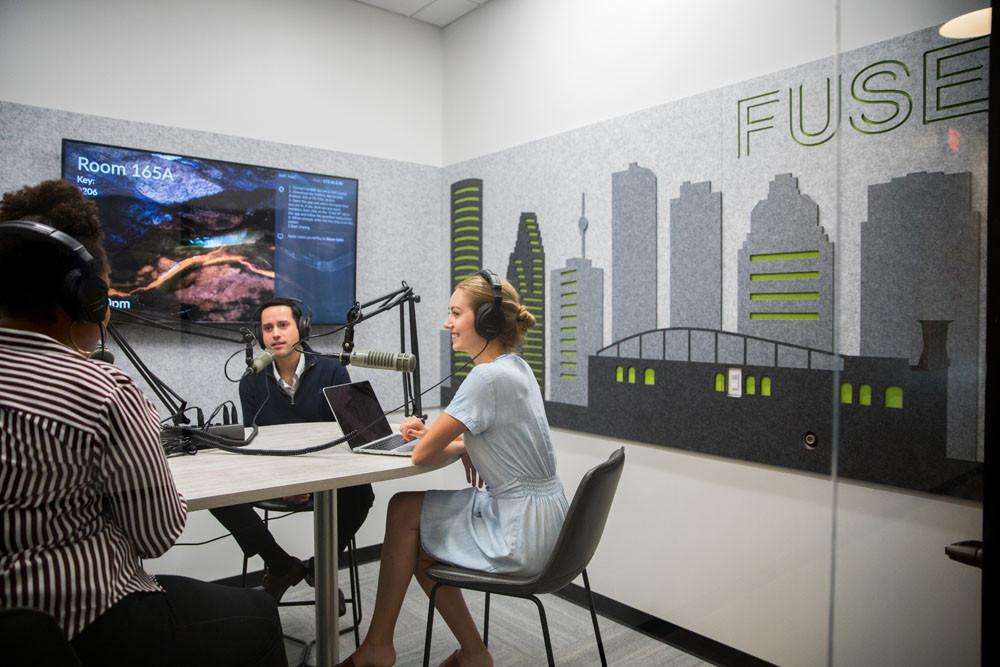 podcast studio houston fuse coworking | CloudVO