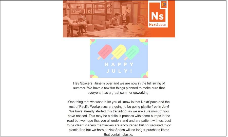 NextSpace Coworking Santa Cruz Member Newsletter | CloudVO